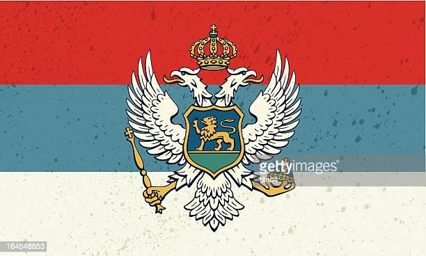 old montenegro flagge - montenegro stock-grafiken, -clipart, -cartoons und -symbole