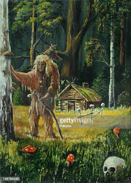 old shaman in the woods - indigenous north american culture stock illustrations, clip art, cartoons, & icons