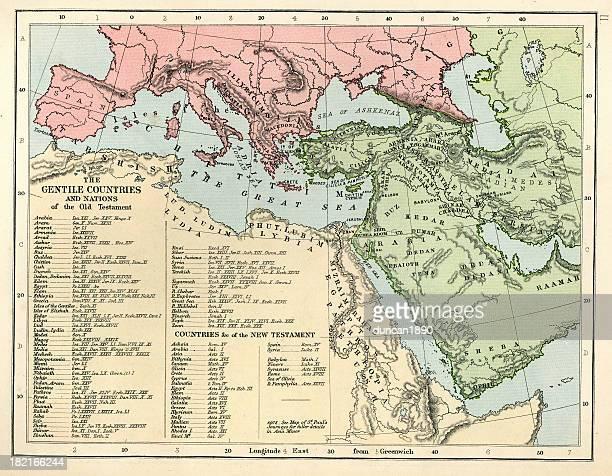 old testament map - new testament stock illustrations