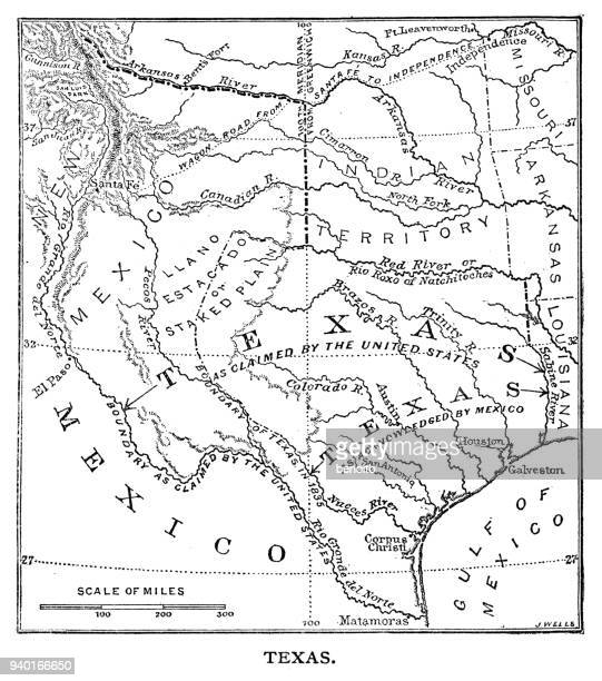 Old Texas Map