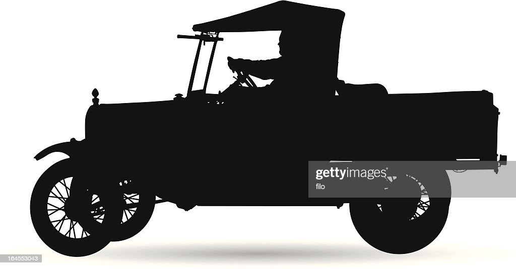 Old Vehicle Silhouette
