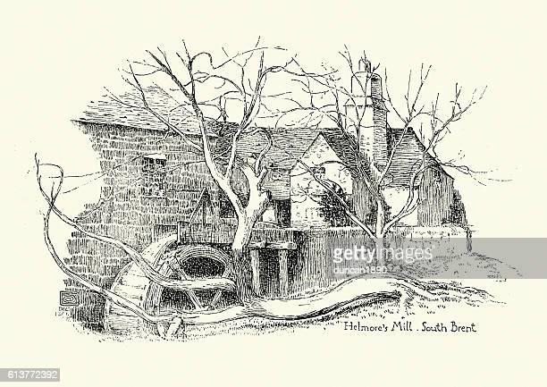 Old Watermill , South Brent, Devon, 19th Century