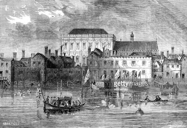 Old Whitehall Palace from the Thames