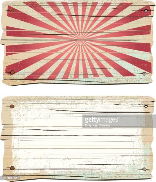 Old wooden vintage sign
