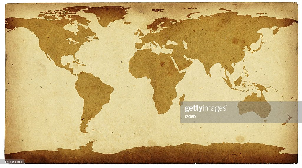 Old world map retro cartography stock illustration getty images old world map retro cartography stock illustration gumiabroncs Choice Image