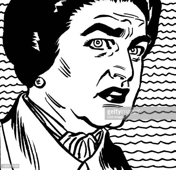 Older Dark Haired Woman