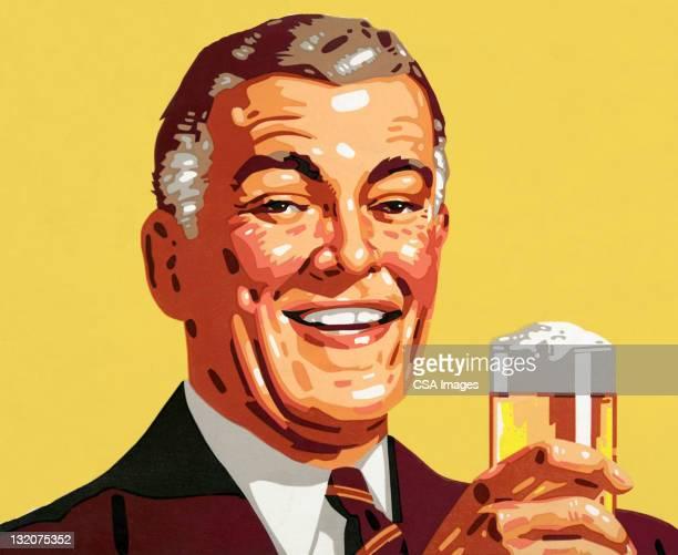 ilustrações, clipart, desenhos animados e ícones de mais homem segurando uma cerveja - somente adultos