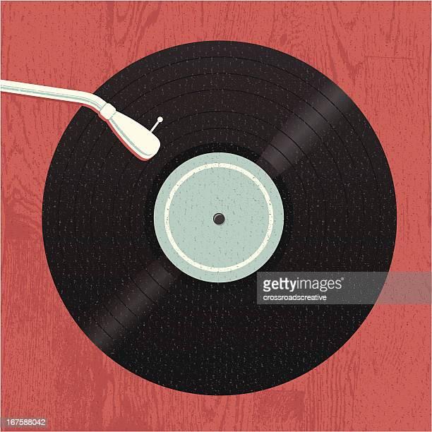 illustrazioni stock, clip art, cartoni animati e icone di tendenza di old-school musica in vinile - hi fi