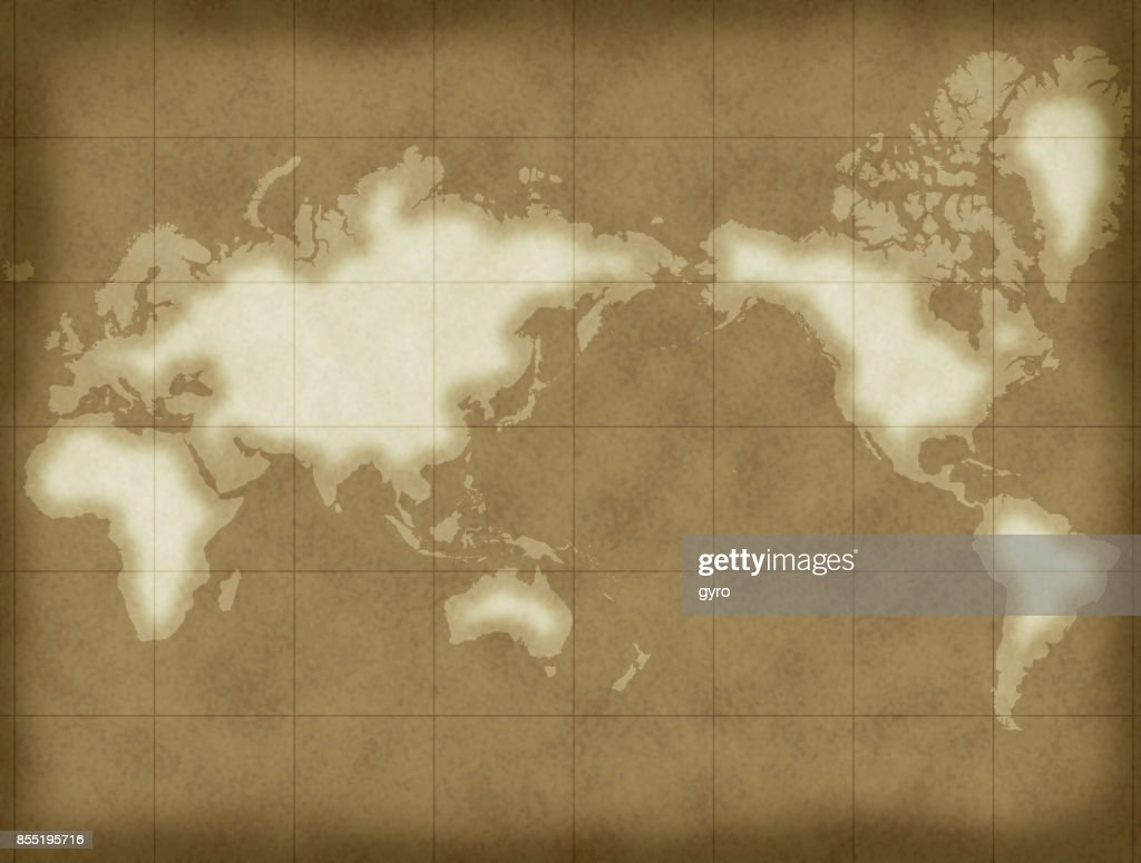World Map Old Style.Oldstyle Map World Map Stock Illustration Getty Images