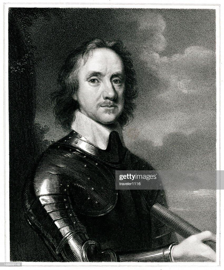 Oliver Cromwell : stock illustration