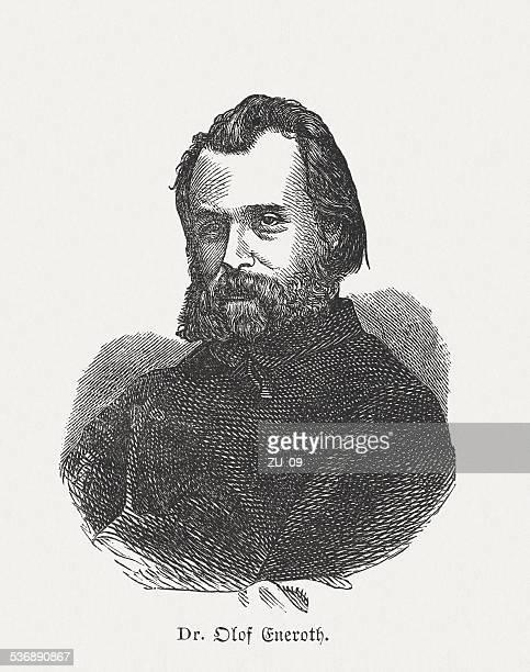 olof eneroth (1825-1881), shwedish pomologist, wood engraving, published in 1882 - landscape gardener stock illustrations, clip art, cartoons, & icons
