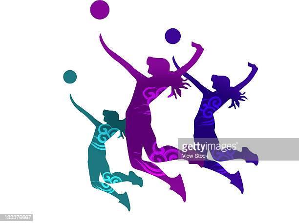 ilustraciones, imágenes clip art, dibujos animados e iconos de stock de olympics and sports,composite illustration - vóleibol de playa
