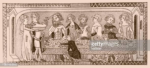 14世紀前半のフランスにおける軍備と衣装について - カトリーヌ・ド・メディシス点のイラスト素材/クリップアート素材/マンガ素材/アイコン素材