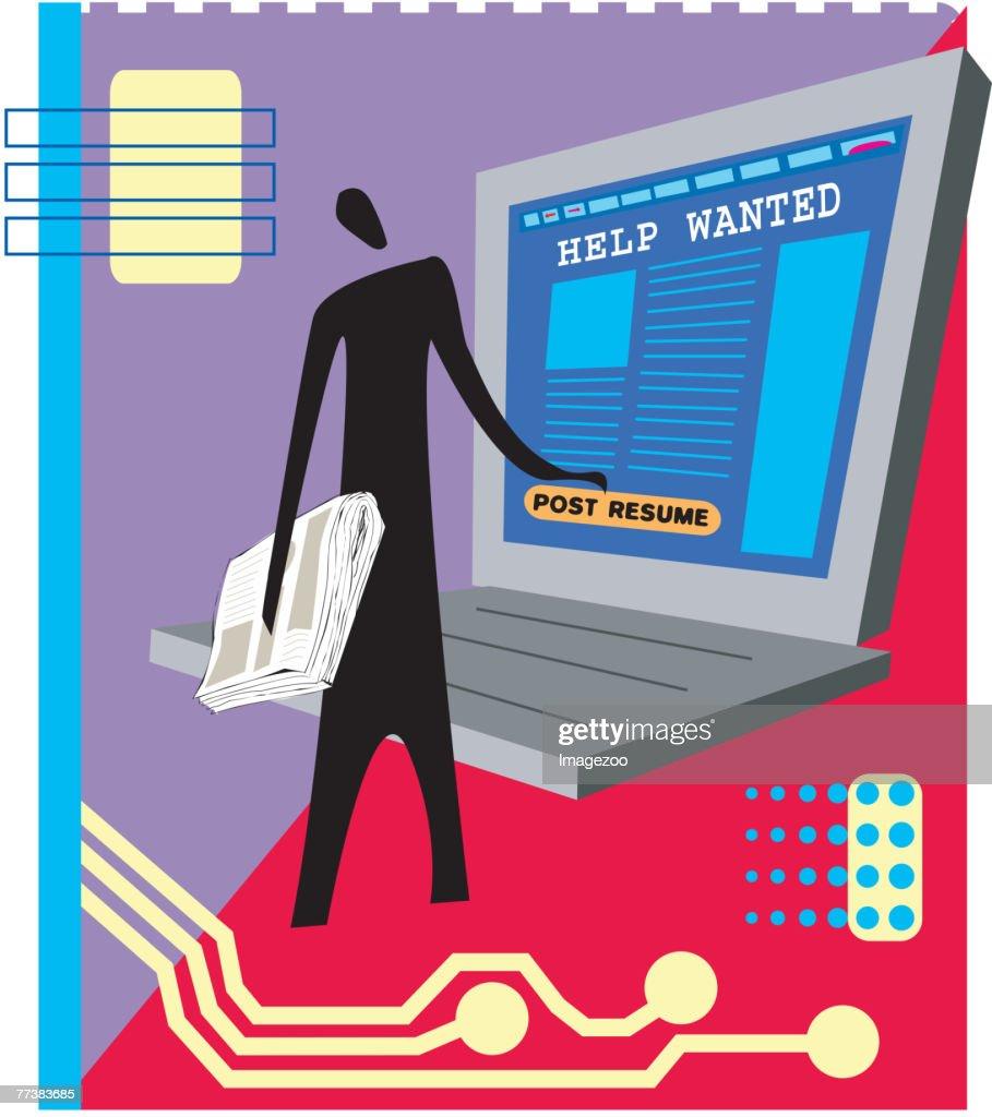 on line job search : stock illustration