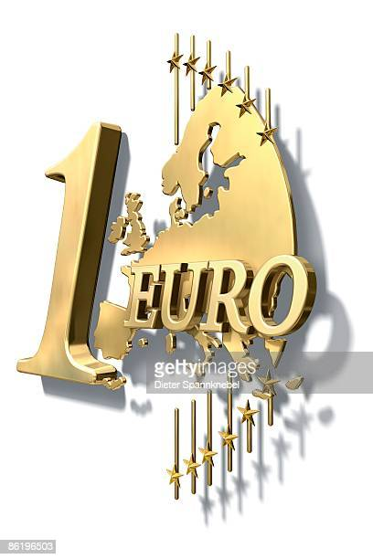 one euro coin design stylized in gold - number of people stock illustrations, clip art, cartoons, & icons