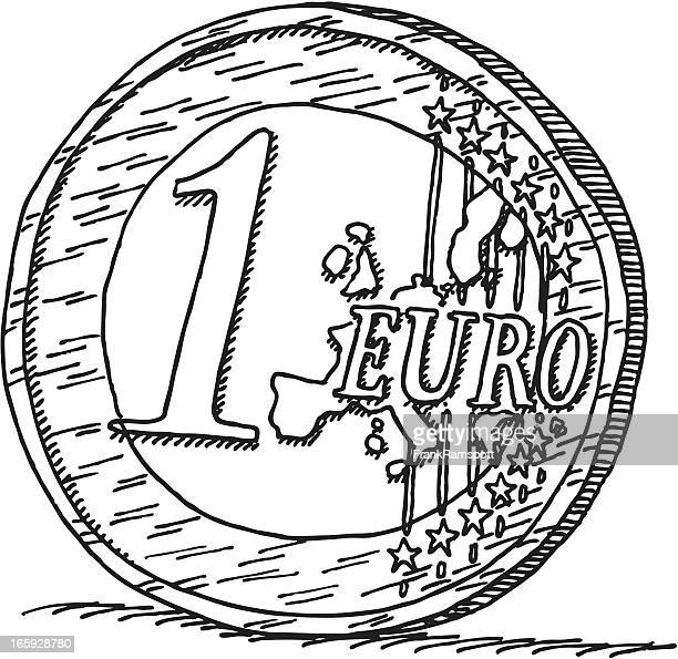 One Euro Coin Drawing