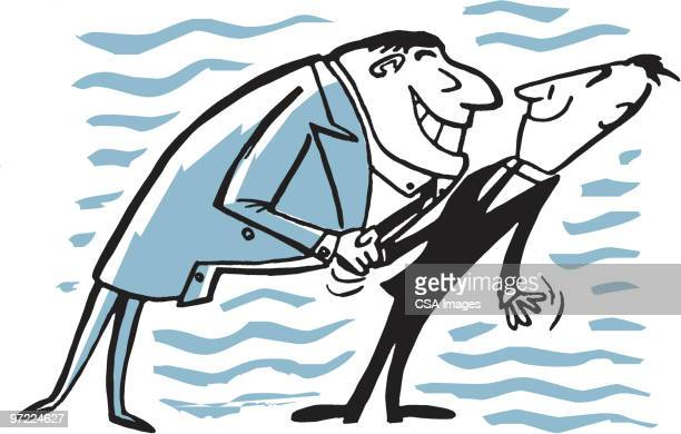 one man forcing his charm on another man - gesturing stock illustrations, clip art, cartoons, & icons