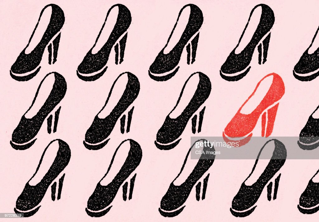 One red shoe : stock illustration