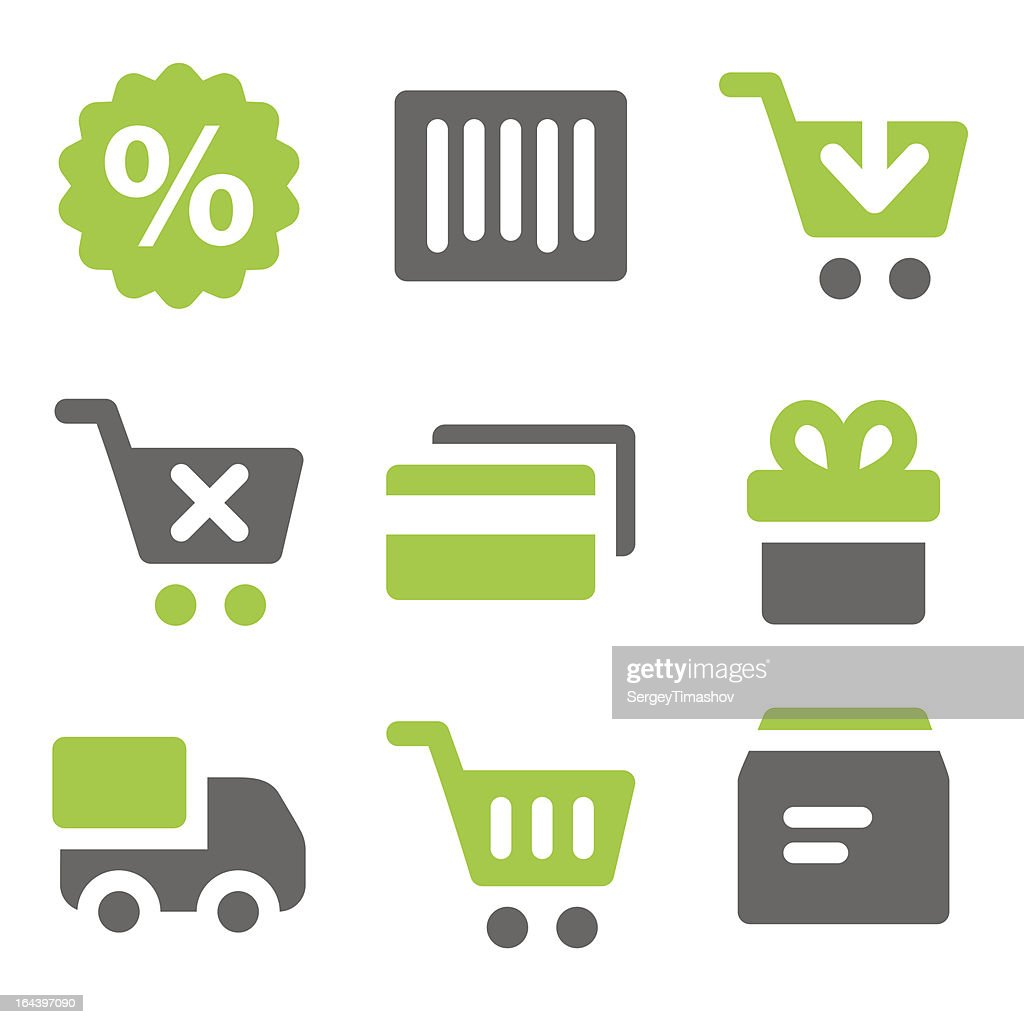 On-line shopping web icons