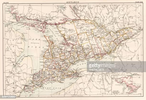 Ontario Cabada map 1884