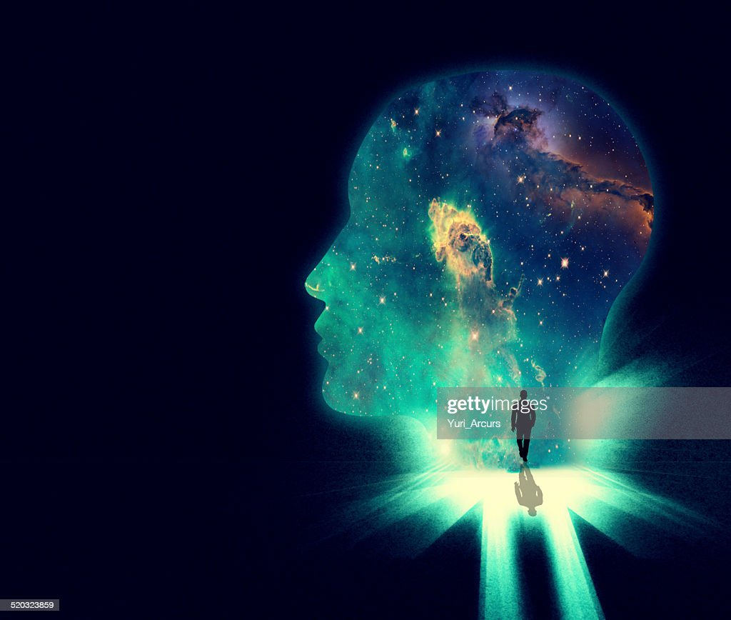 Open your mind the the wonders of the universe : Stock Illustration