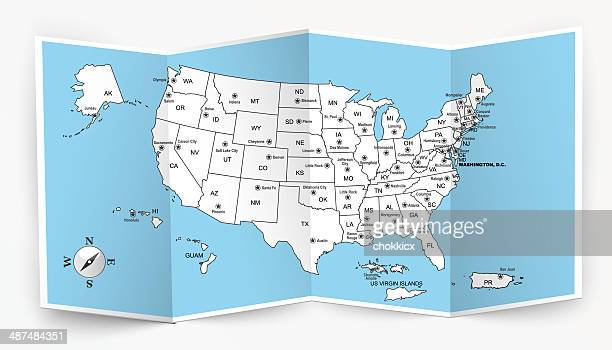 Opened USA Map