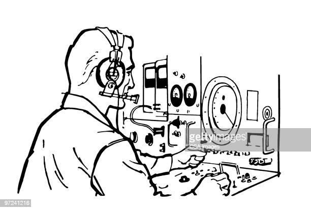 operator - instrument of measurement stock illustrations