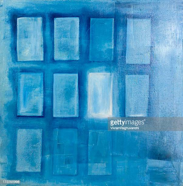Opportunity Knocks Only Once - oil painting art colors abstract