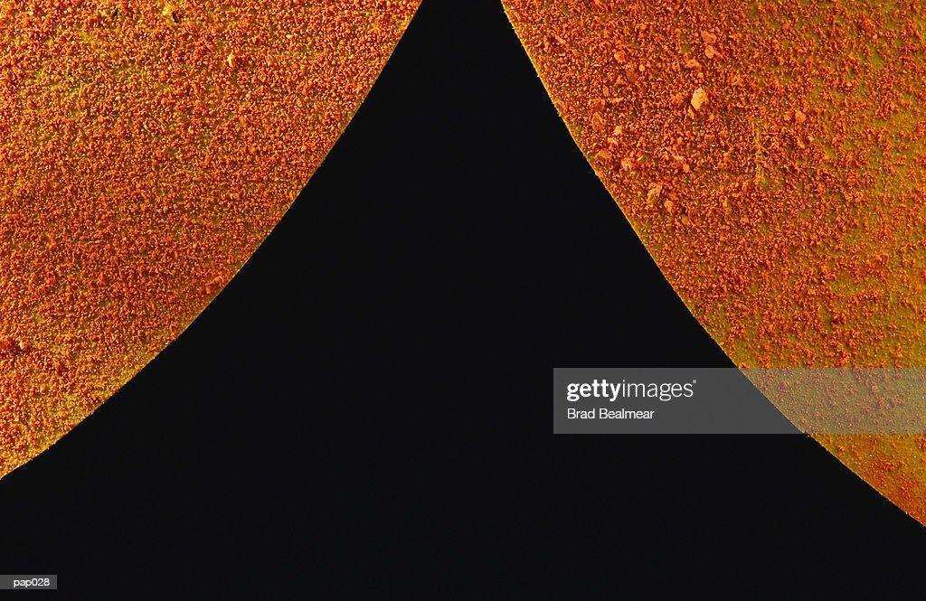Orange & Black Background : Stockillustraties
