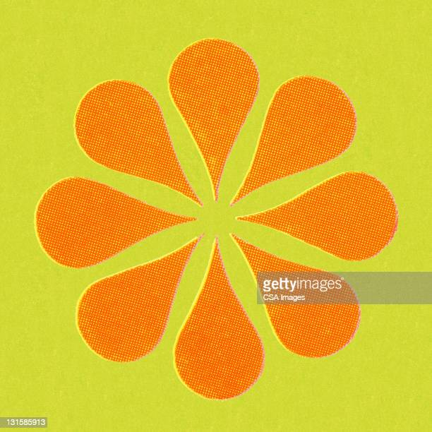 orange flower - floral pattern stock illustrations
