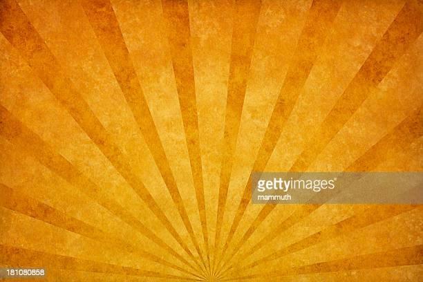 illustrations, cliparts, dessins animés et icônes de orange avec texture grunge sunrays - fond orange
