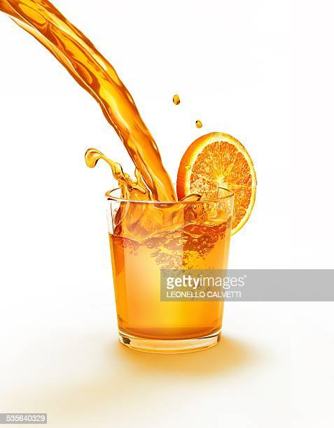 orange juice being poured into a glass - juice drink stock illustrations, clip art, cartoons, & icons