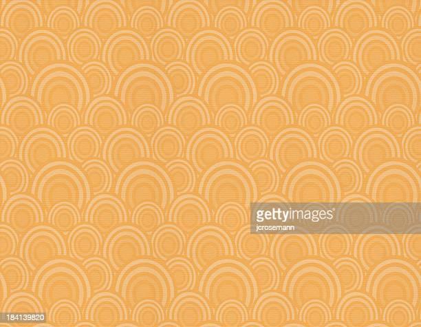 オレンジレトロな壁紙 - キッチュ点のイラスト素材/クリップアート素材/マンガ素材/アイコン素材