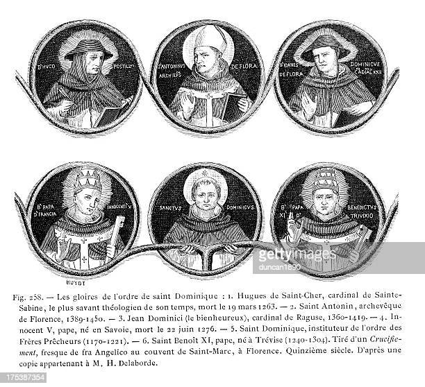 order of st. dominic - bishop clergy stock illustrations, clip art, cartoons, & icons