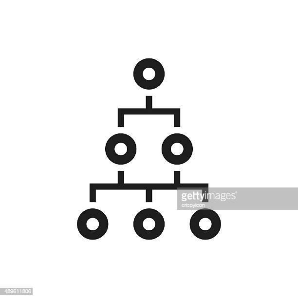 Organization Chart icon on a white background. - Single Series