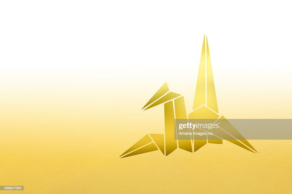 Origami Crane Stock Illustration