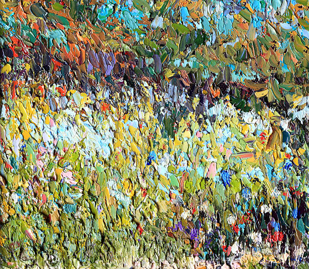 Original Impressionist Art painting of Meadow with Flowers