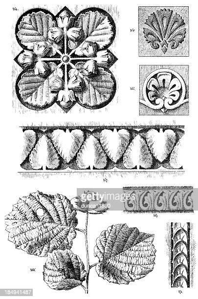stockillustraties, clipart, cartoons en iconen met ornamental art deisgn elements - gekarteld