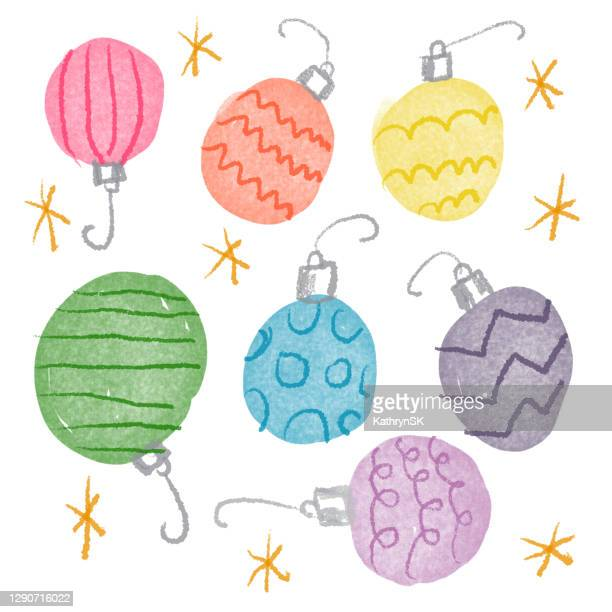 ornaments drawing in rainbow colors - kathrynsk stock illustrations