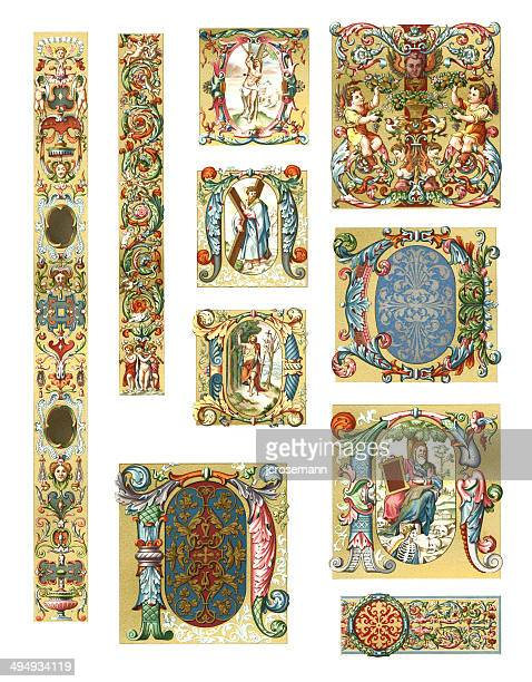 ornaments italy 16th century - 16th century style stock illustrations, clip art, cartoons, & icons