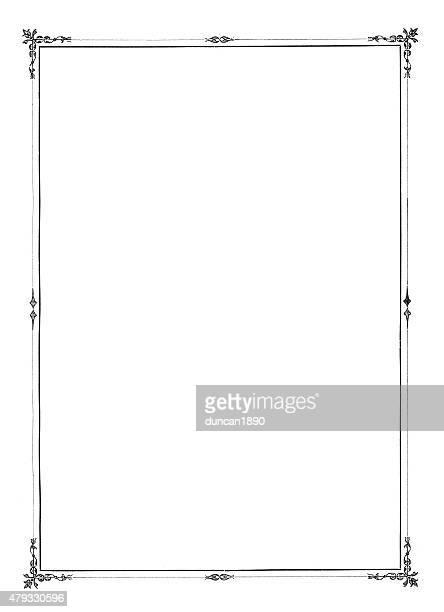 華麗なブラックの縁 - 黒枠点のイラスト素材/クリップアート素材/マンガ素材/アイコン素材