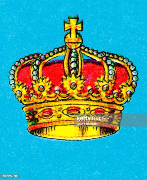 ornate crown - queen royal person stock illustrations