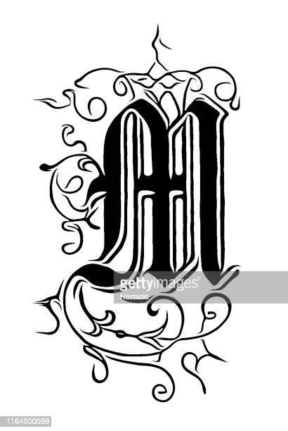 Ornate letter M
