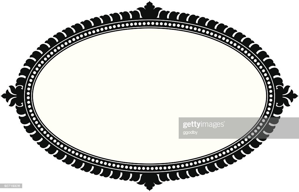 Ornate Oval Panel (vector)