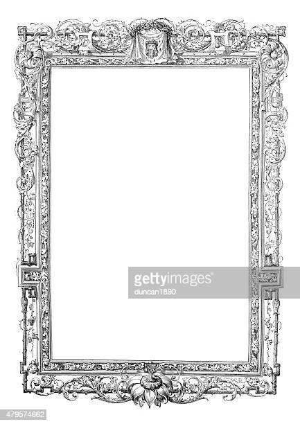 華麗なルネッサンススタイルのフレーム - 16世紀のスタイル点のイラスト素材/クリップアート素材/マンガ素材/アイコン素材