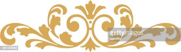 ornate vector scroll - embellishment stock illustrations