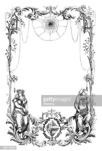 Marco victoriano adornado de grabado