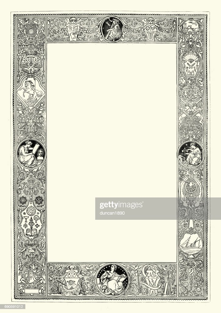 Border frame victorian Decorative Ornate Victorian Style Border Frame Stock Illustration Getty Images Ornate Victorian Style Border Frame Stock Illustration Getty Images