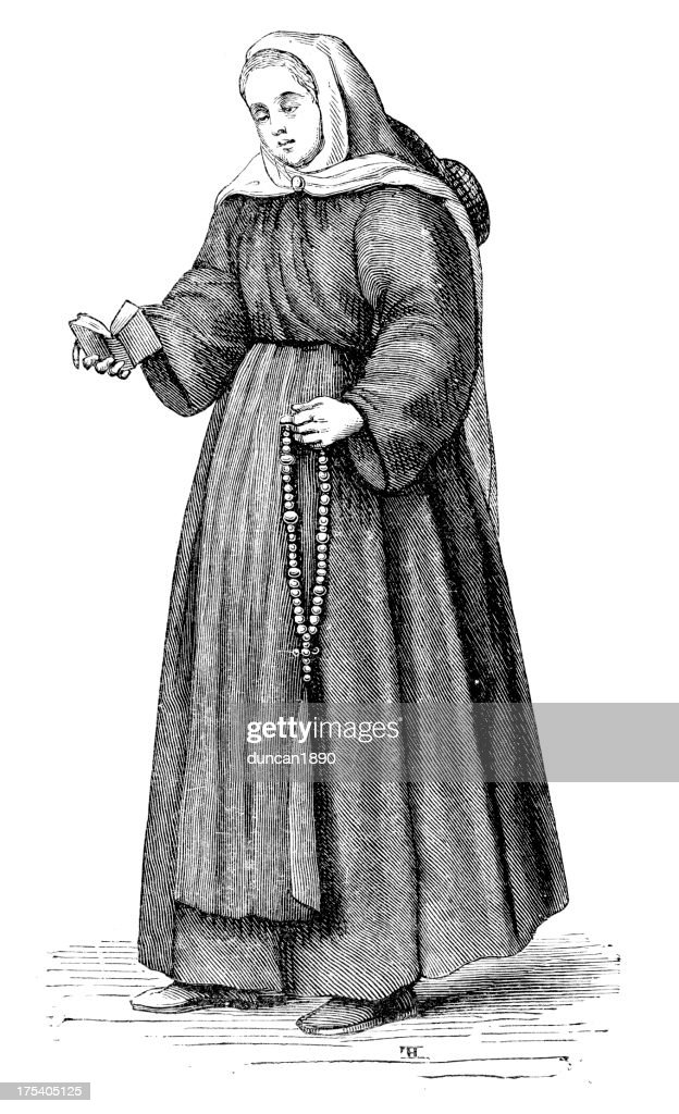 Orphan in the 16th century : stock illustration
