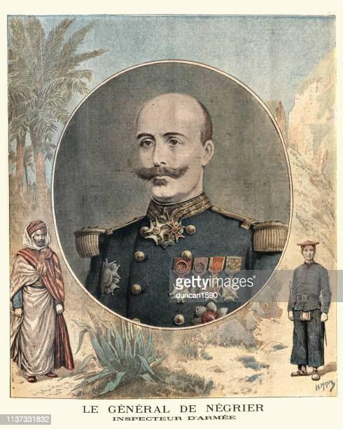 oscar de negrier, französisches general,19. jahrhundert - general stock-grafiken, -clipart, -cartoons und -symbole